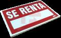 """Cédula Caple """"SE RENTA"""" 43x60 cms"""